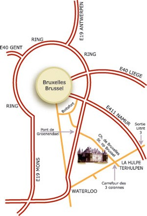 Plan d'accès Domaine régional de Solvay